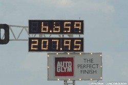 Speed record in Pro stock