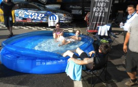 When you go to a racetrack and you cant race...why not just buy a pool and make a poolparty